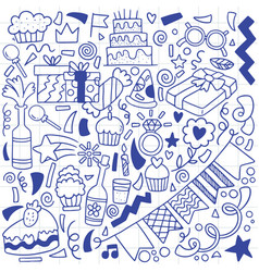 07-09-066 hand drawn party doodle happy birthday vector