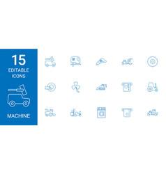 15 machine icons vector