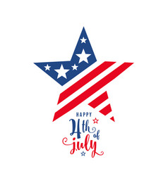4th of july celebration holiday banner star shape vector image