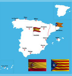 Abstract color map spain country vector