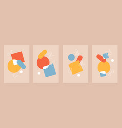 Abstract geometric shape vertical design vector