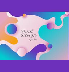 abstract modern fluid or liquid shape gradient vector image