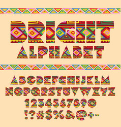 Abstract pattern ethnic african style alpha vector