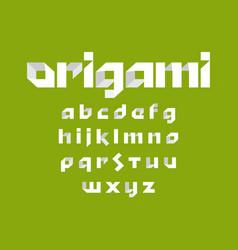 alphabet font alphabet font in origami design vector image