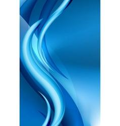 Aqua waves abstract background vector