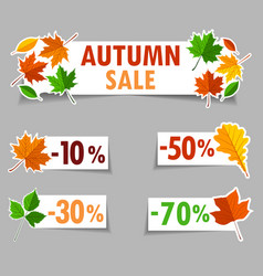 autumn sale banner background vector image