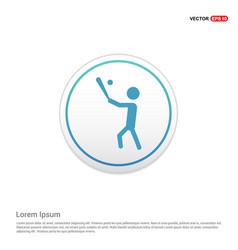 baseball player icon - white circle button vector image