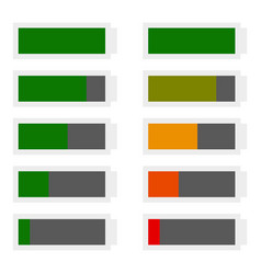 battery level indicator shape template in flat vector image