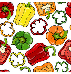 bell pepper red orange yellow green vector image