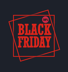 black friday sales design vector image