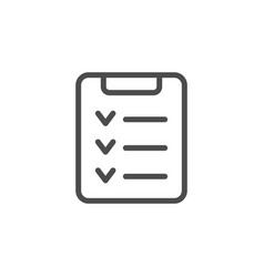 Check list line outline icon vector