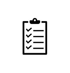 Checklist icon in flat style to do list symbol vector