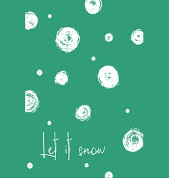 christmas greeting card with snowballs vector image