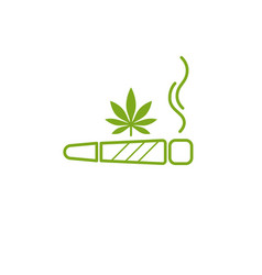 Cigarette with drug marijuana cigarette rolled vector