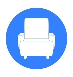 Cinema armchair icon in black style isolated on vector