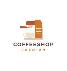 Coffee maker machine shop logo icon vector
