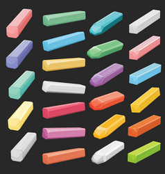 color chalk pastel sticks artist supplies vector image