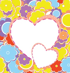 Colorful Valentines Background vector image