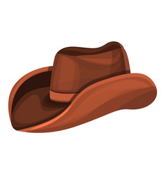 cowboy hat icon cartoon style vector image