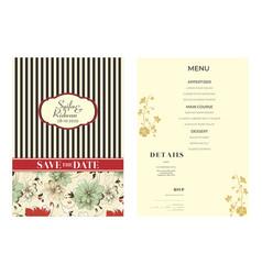 Cream background wedding invitation vector
