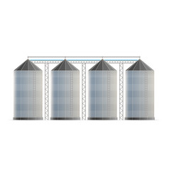Creative of agricultural silo vector