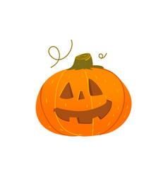Cute smiling grinning halloween pumpkin lantern vector