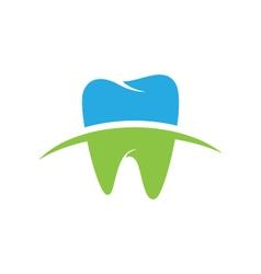 dental logo template icon vector image