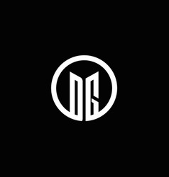 dg monogram logo isolated with a rotating circle vector image