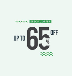 Discount special offer up to 65 off template vector