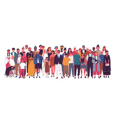 Diverse multiracial and multicultural group vector