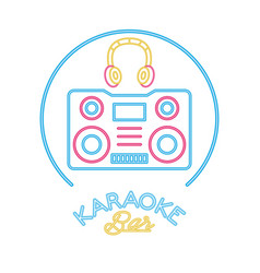 Earphones audio with radio player vector