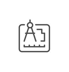 engineering document line icon vector image