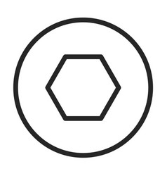 Fastener head iconoutline icon vector