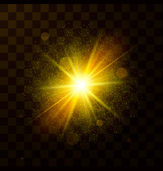 festive christmas light star explosion with dust vector image