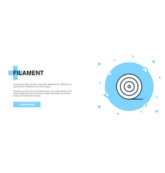 Filament line icon simple icon banner outline vector