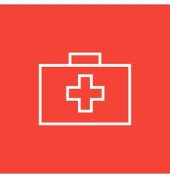 First aid kit line icon vector image