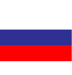 flag russia in flat design flag russia background vector image
