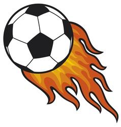 Football ball - soccer in fire vector