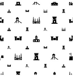 Fort icons pattern seamless white background vector