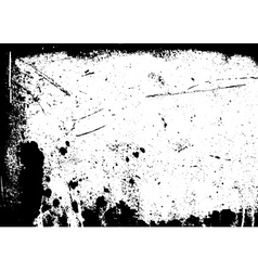 Grunge black white distress border vector image