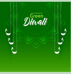 Happy green diwali festival eco friendly vector