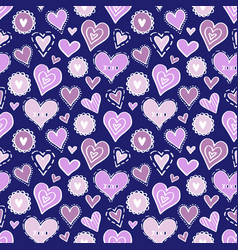 hearts pattern love new-06 vector image