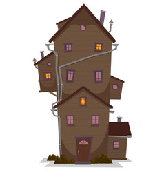High wood house vector