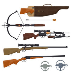 Hunting equipment and gun vector