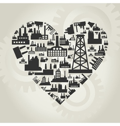 Industries of heart vector image