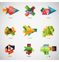 Infographic option banner design collection vector