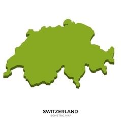 Isometric map of switzerland detailed vector