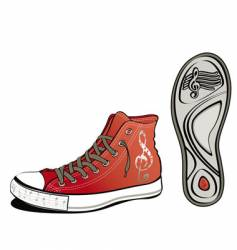 music shoe vector image