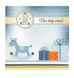 New Baby greeting card vector