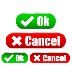 Ok and cancel buttons vector